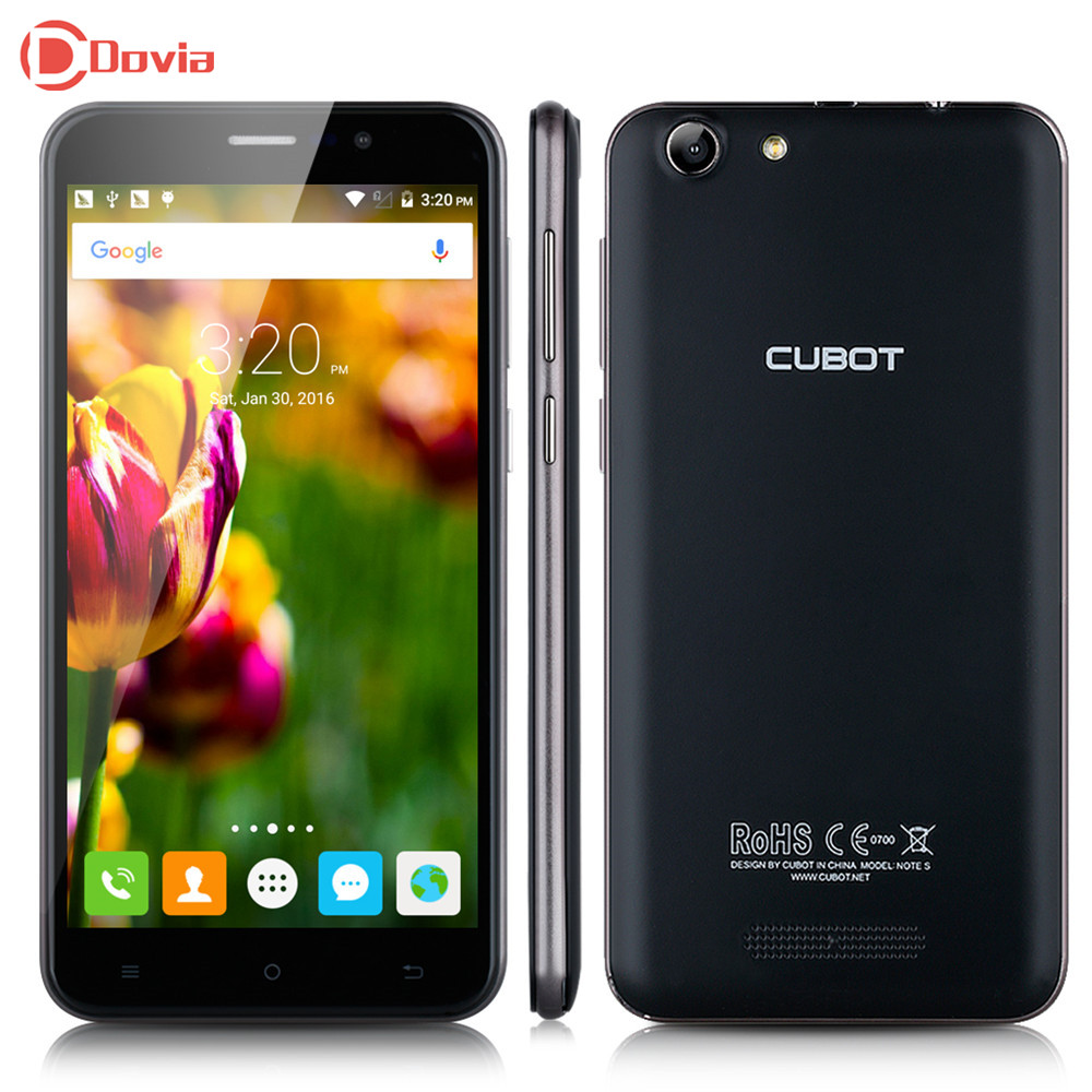 Cubot Note S 4150mAh Battery Telephone 5.5 inch 1280X720 Android 5.1 Smartphone 3G WCDMA 2G RAM 16G ROM 5MP Camera Mobile Phone