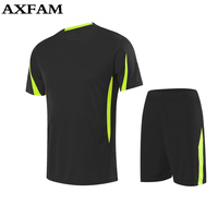 Adult Training Short Sleeve 2017 Jersey Breathable Runningsets Sportswear Soccer Team Football Kits Adult DIY Logo