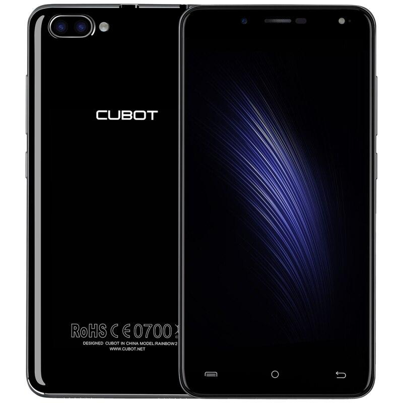 Цена за CUBOT Радуга 2 Android 7.0 1 ГБ/16 ГБ 2 Задняя Камера с 1000mA СВЕТОДИОДНАЯ Вспышка Света 5.0 дюймов 2.5D Изогнутый Экран IPS 2350 мАч Мобильного Телефона