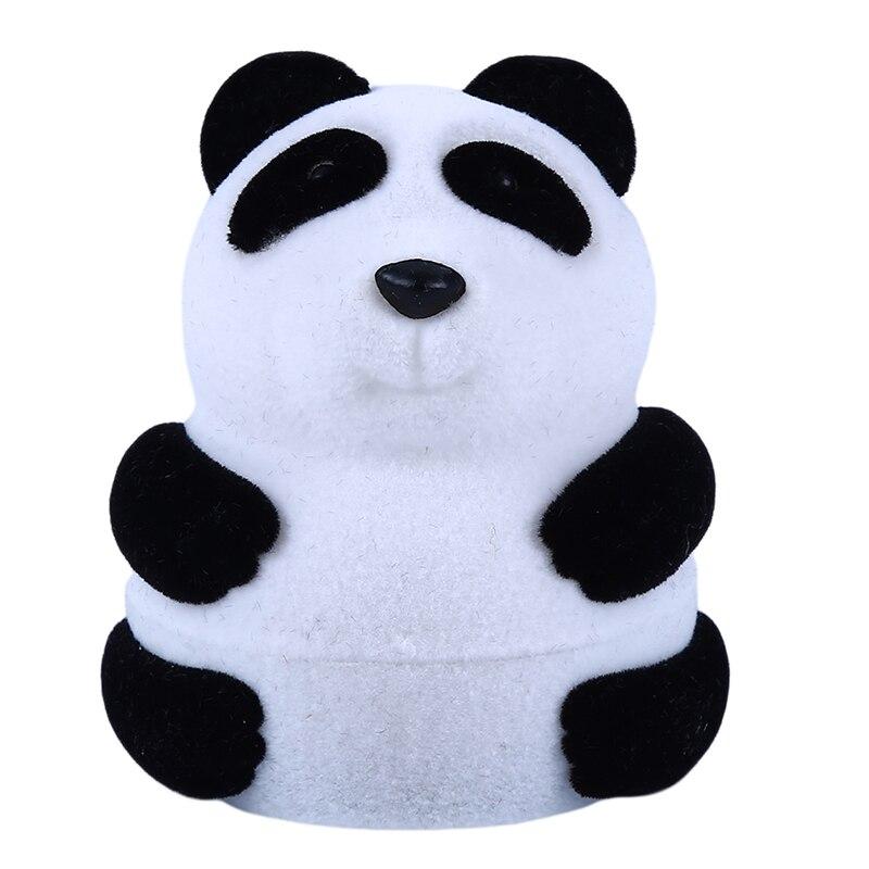Creatieve Schattige Fluwelen Panda Sieraden Doos Voor Vrouwen Animal Vorm Oorbel Ring Box Sieraden Decoratie Accessoires Tuur 100% Garantie