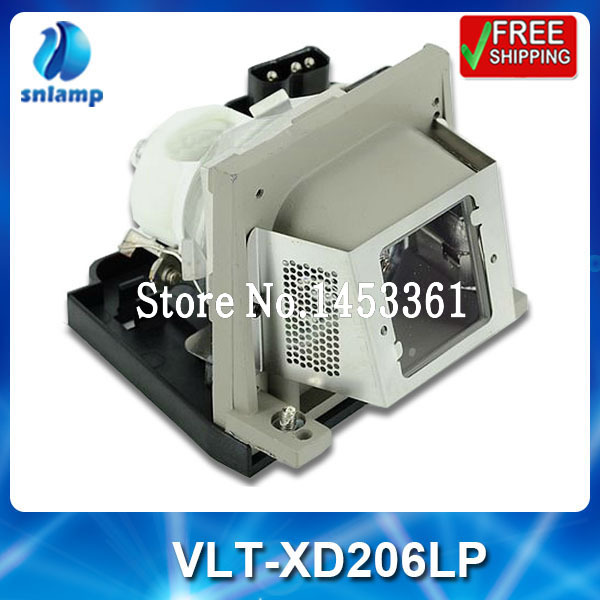 Compatible projector bulb lamp VLT-XD206LP with housing for SD206U XD206U-G XD206U