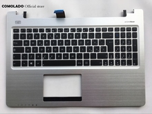 IT Italian keyboard for Asus S550 S550CM with silver palmrest cover keyboard IT Layout new for sony vaio svf152a29l svf152c29l svf152c29m laptop palmrest it italian keyboard black backlit