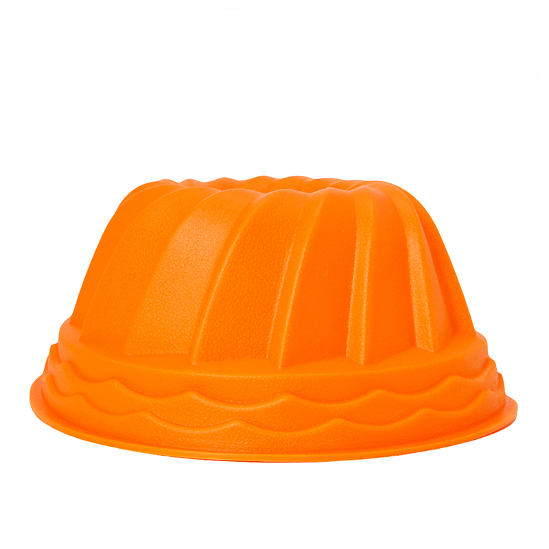 Pumpkin - shaped Swirl Bundt Ring Cake Bread Pastry Silicone Mold Pan Tray Mould New Useful image