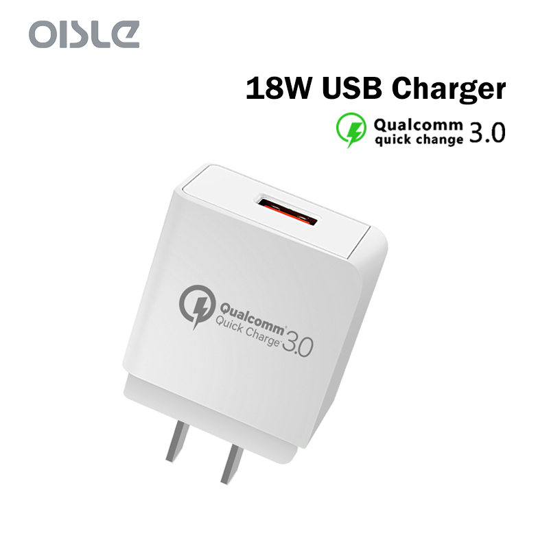 Quick Charger QC 3.0 USB Charger For iPhone xs max Fast Charging 18W EU/US/UK Mobile Phone