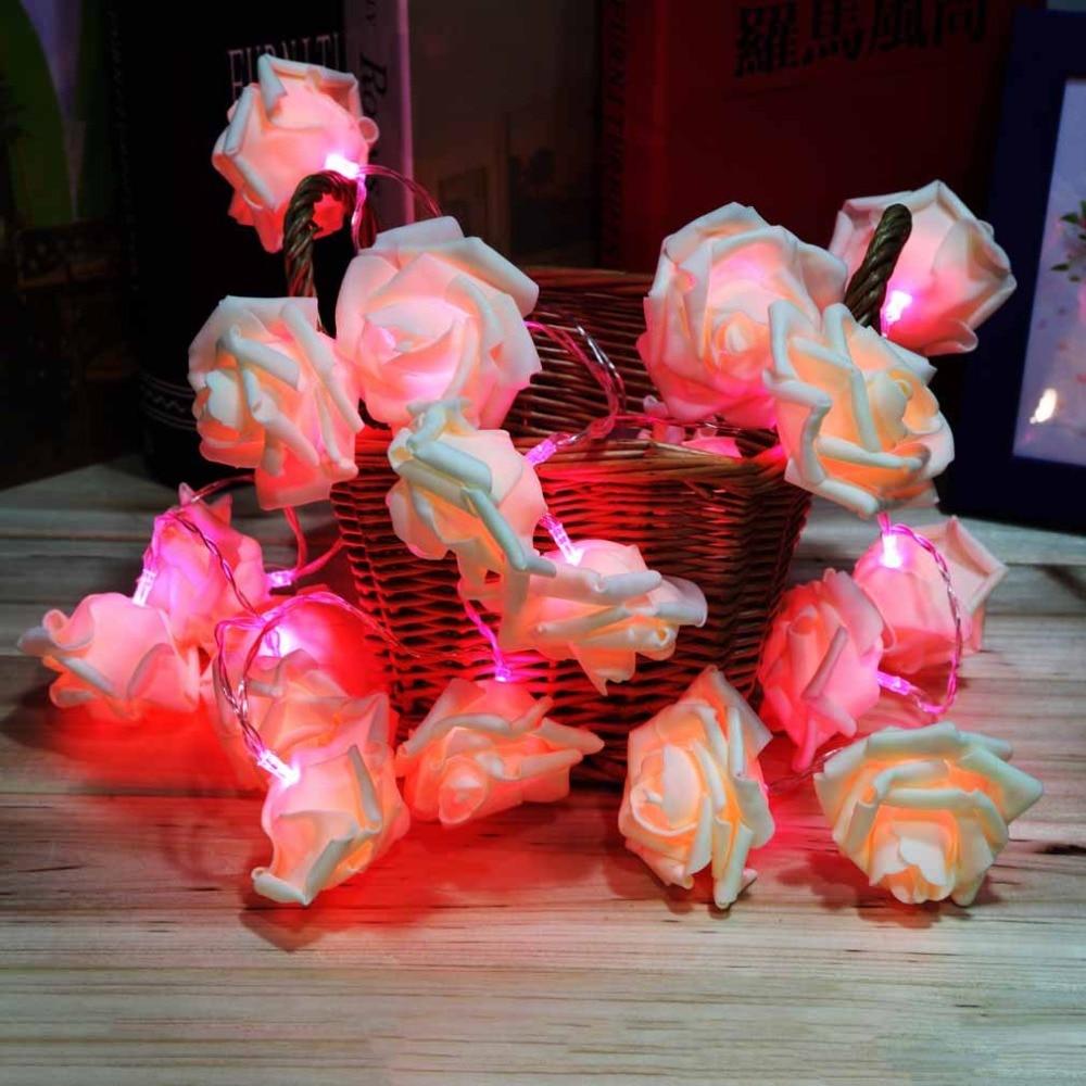 ICOCO 2017 visoke kvalitete 20 LED romantični ruža cvijet vila niz - Rasvjeta za odmor - Foto 4