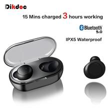 Dikdoc Draadloze Oordopjes Bluetooth Oortelefoon TWS Waterdichte In oortelefoon Handfrees Noise Cancelltion BT 5.0 Voor Galaxy Sport Knoppen