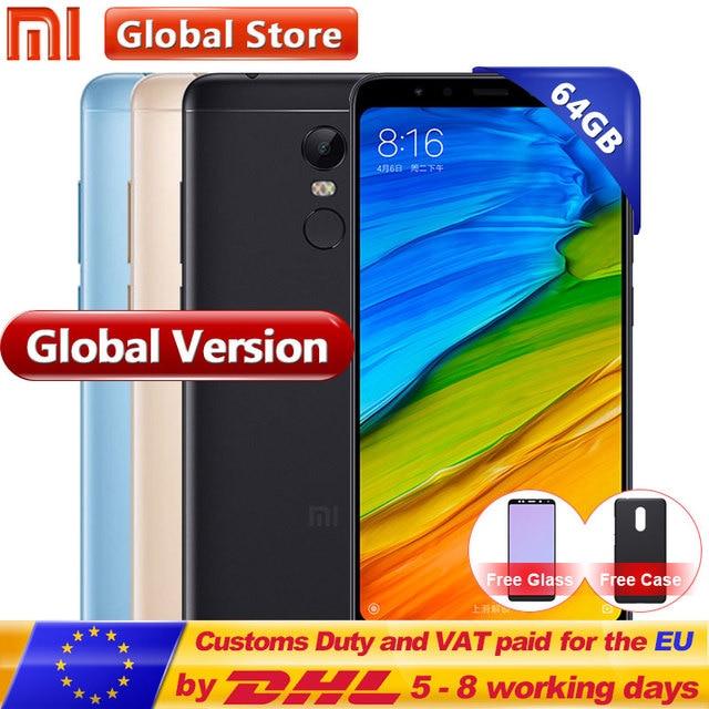 "Global Versie Xiaomi Redmi 5 Plus 4 gb 64 gb Mobiele Telefoon Snapdragon S625 Octa Core MIUI9 5.99 ""Full scherm 2160*1080 4000 mah"