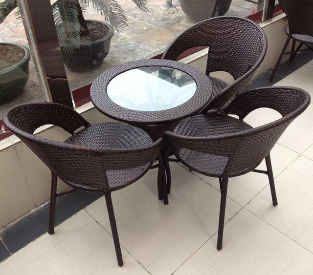 Garden Patio Tables And Chairs Combination Lounge Chair Rattan Chair