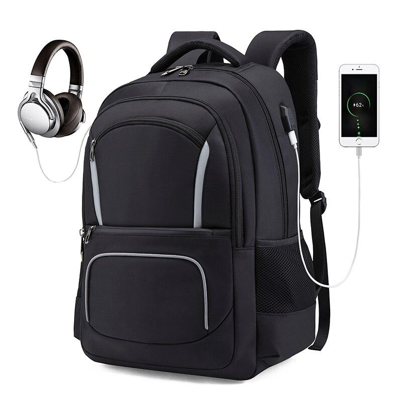 Hommes voyage sac à dos sac à dos pour ordinateur portable USB charge Anti-vol sac à dos étanche sac d'école mâle Mochila ML048