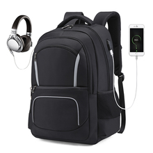 купить Men Travel Backpack Laptop Backpack USB Charging Anti Theft Backpack Waterproof School Bag Male Mochila ML048 онлайн