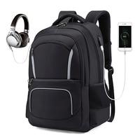 Men Travel Backpack Laptop Backpack USB Charging Anti Theft Backpack Waterproof School Bag Male Mochila ML048