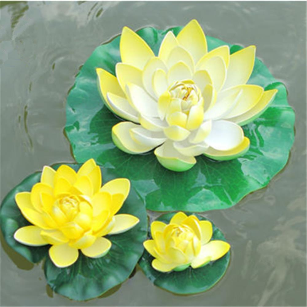 Online buy wholesale lotus flower size from china lotus flower different size 3pcs10cm18cm30cm eva real touch flowers artificial flowers dhlflorist Image collections