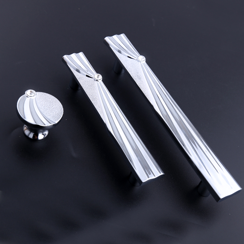 128mm fashion deluxe silver kitchen cabinet cupboard door handle rhinestone drawer tv cabinet knob pull 96mm glass crystal pull solar powered head shaking cute hula couple desktop toy