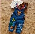 2016 new arrival  infant  jeans pant baby cartoon denim  pant cute design