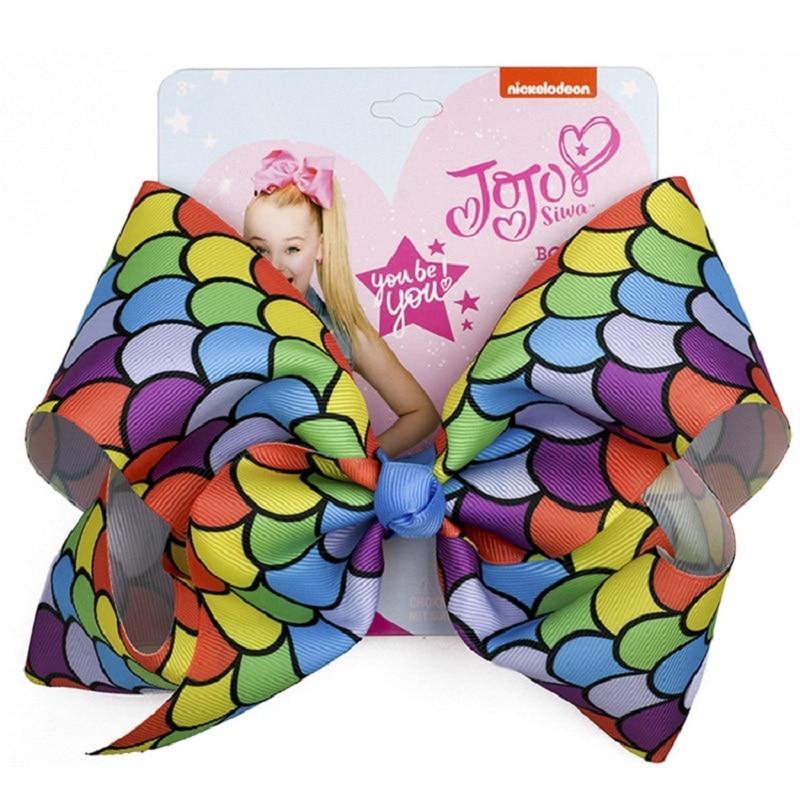 Jojo Bows for Girl Hair Accessories Handmade   Headwear   Large Bows Dot Fashion Children Bow-knot Print JOJO siwa Baby Hairpin