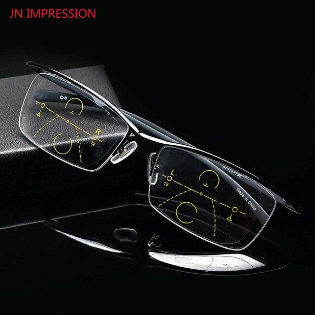 b819199d65 Alta calidad gafas multifocales progresiva gafas de lectura hombres mujeres  presbicia con dioptrías gafas con caja