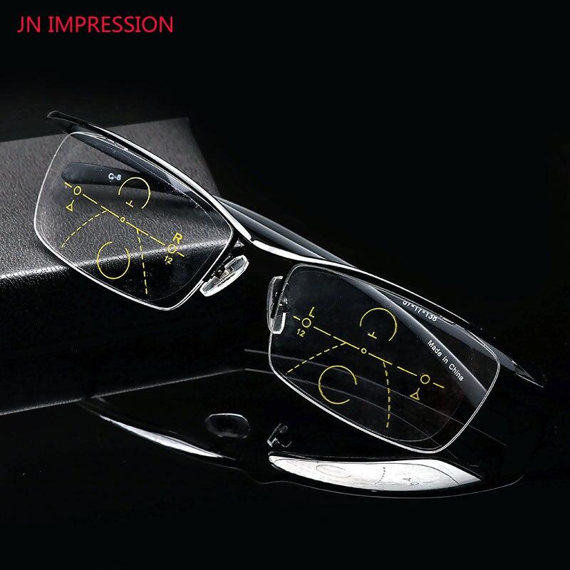 0ba332049 Alta qualidade óculos Multifocal Progressiva Óculos De Leitura Presbiopia  Eyewear com dioptrias óculos Das Mulheres Dos Homens com a caixa 1.0-4