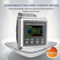 Utility TV 650nm laser therapy Wrist Laser Watch for diabetes hypertension treatment watch Laser sinusitis Therapeutic apparatus