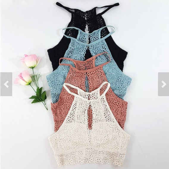 Summer Sexy Womens Tank Tops Bustier Bra Lace Vest Crop Top Bralette Blouse Top