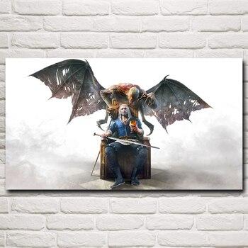 FOOCAME The Witcher 3: liar Berburu Geralt dari Rivia Game Seni Silk Poster Mencetak Dinding Rumah Dekorasi Lukisan 11x20 20x36 30x54 Inch