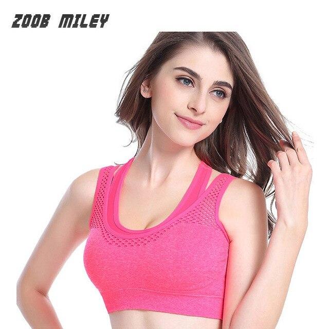 f9024bb96347c Women Sexy Sports Bra Shockproof Running Jogging Sleeveless Gym Fitness Yoga  Shirts Ladies Sports Bras Push Up Top Tanks