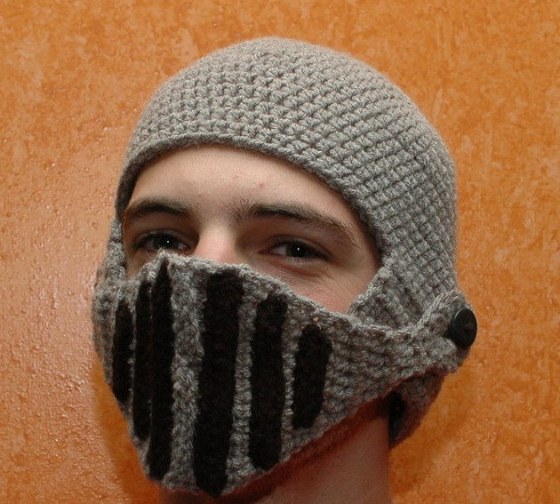 Hot Sell Beard Woollen Hats Hand Knitted Masks Roman Cavalry Hats Funny
