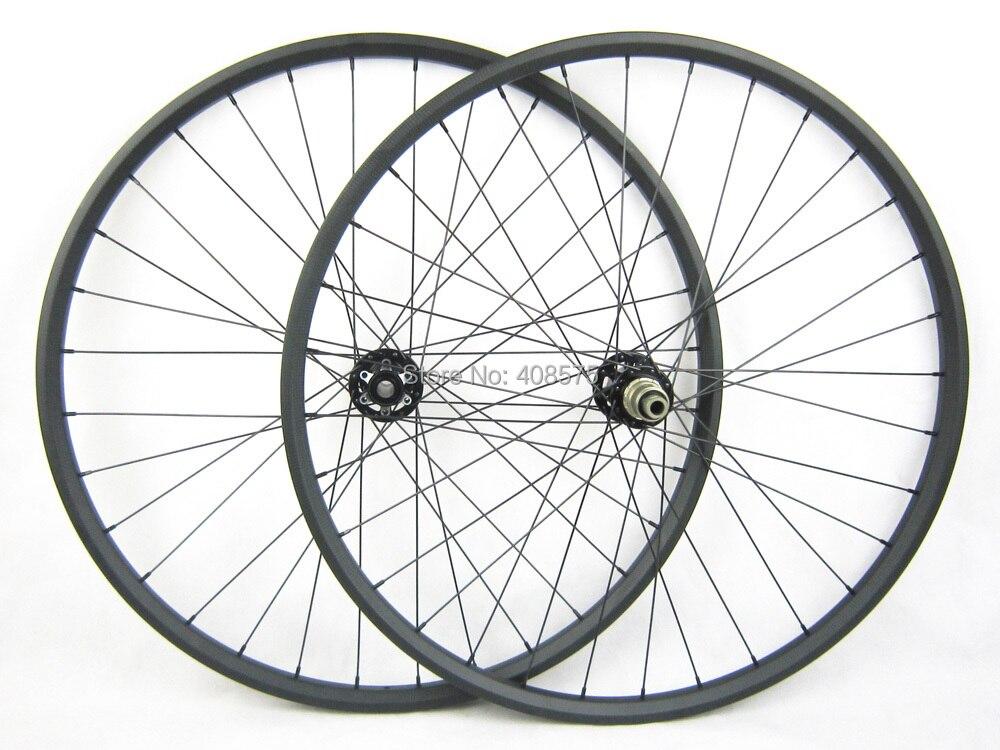 Hookless XC Light Weight Carbon Fiber MTB Bike Wheel 29er 24x27mm Width Mountain Bicycle Wheelset Novatec 791 792 Disc Brake