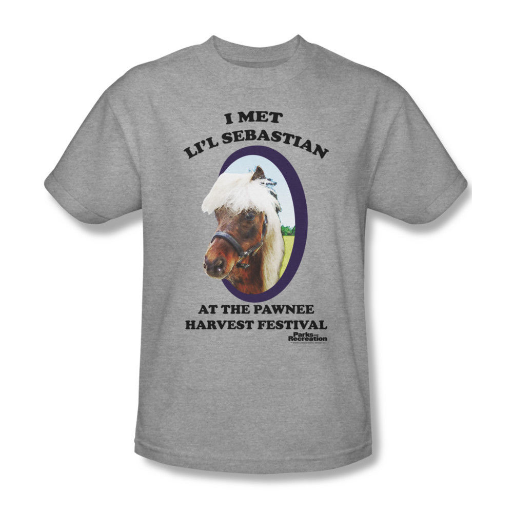 Parks And Recreation Lil Sebastian Adult Heather Gray T Shirt Cartoon T Shirt Men Unisex New Fashion Tshirt Loose Size Top