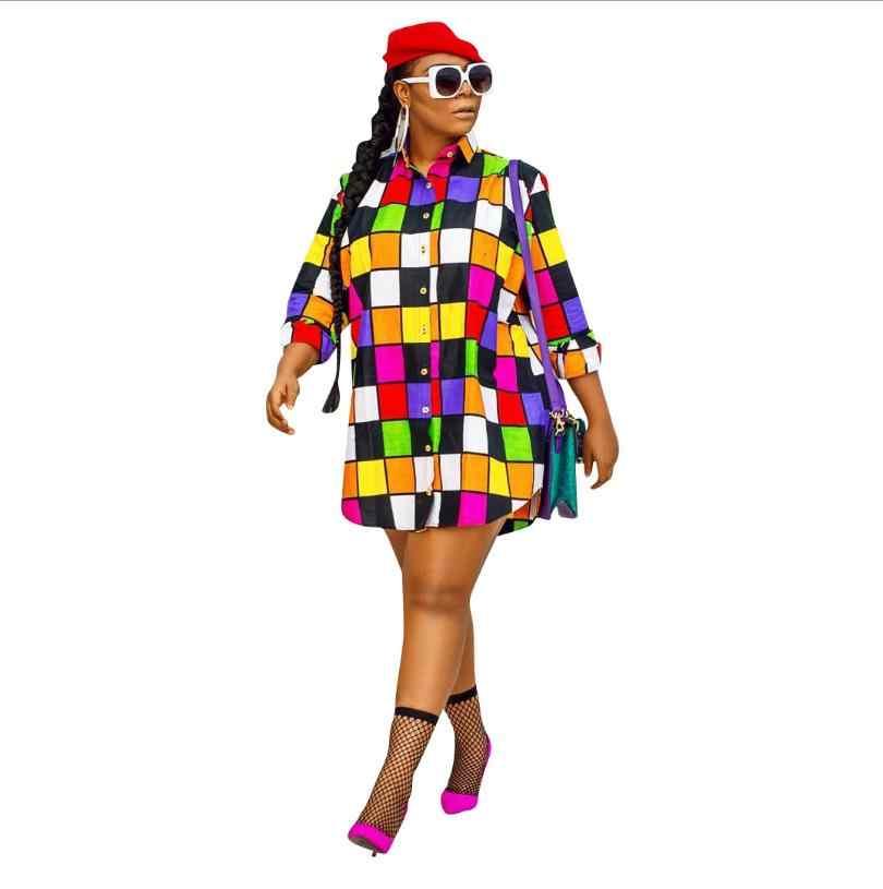2018 afrikanische Kleidung Kleider Sexy Retro Nationalen Große Auspicious Dashiki Mode Loses hemd