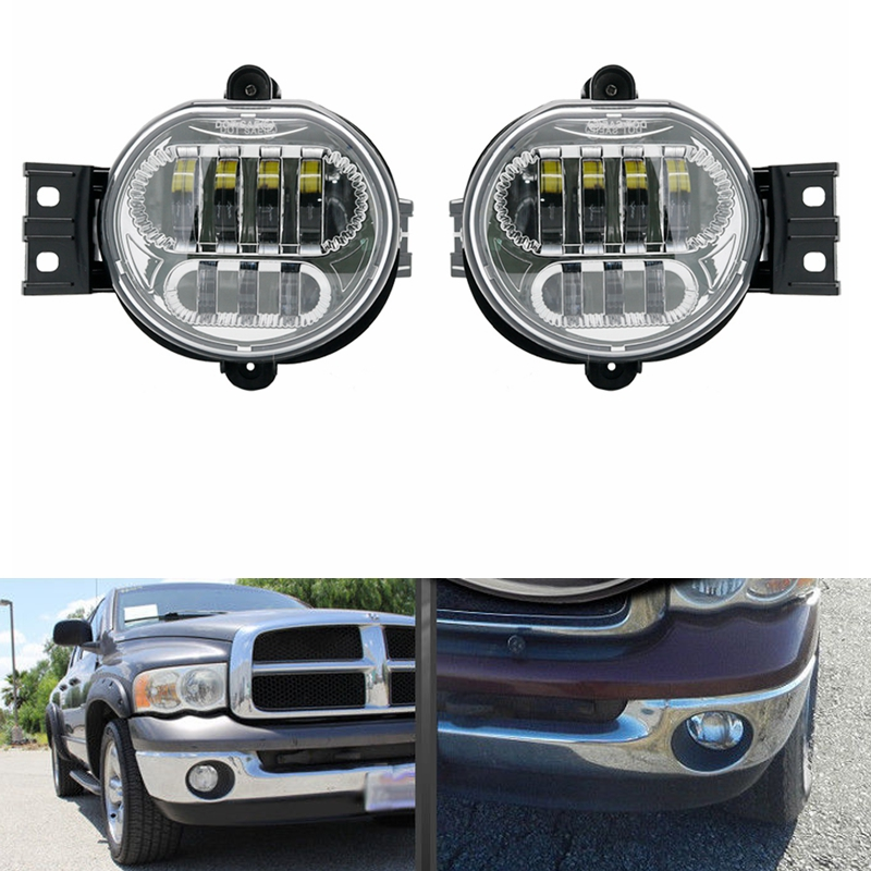 For 2002 2008 Dodge Ram 1500 2500 3500 Pickup Halo Projector Per Lamp Fog Light Kit Durango New Body Style Models