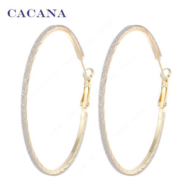 CACANA Hoop Long Earrings For Women Top Quality Round Bijouterie Hot Sale No.A85