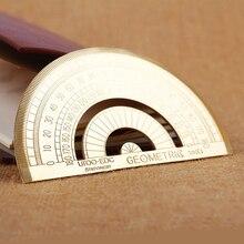 Хороший металлический транспортир Mesure угловая линейка, измерительный инструмент угол измерения круглая линейка из нержавеющей стали линейка транспортира