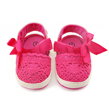 Delebao 2017 New Knitting Hollow Style Butterfly-kont Soft Sole Prewalkers Baby Girl Princess Shoes For 0-18 Months Wholesale