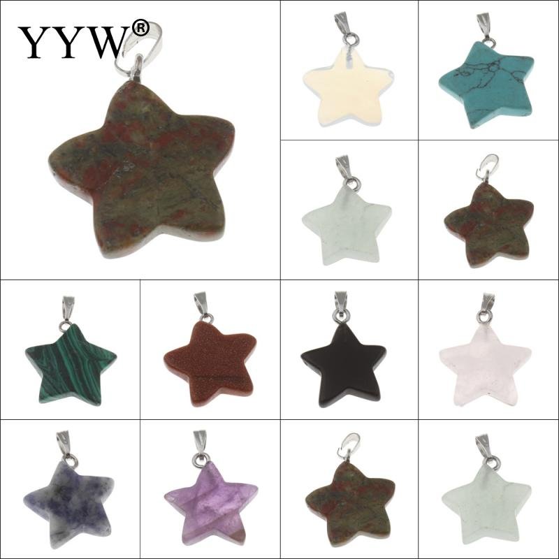 High quality natural stone pendant Purple crystal quartz crystal pendants star specimens ...
