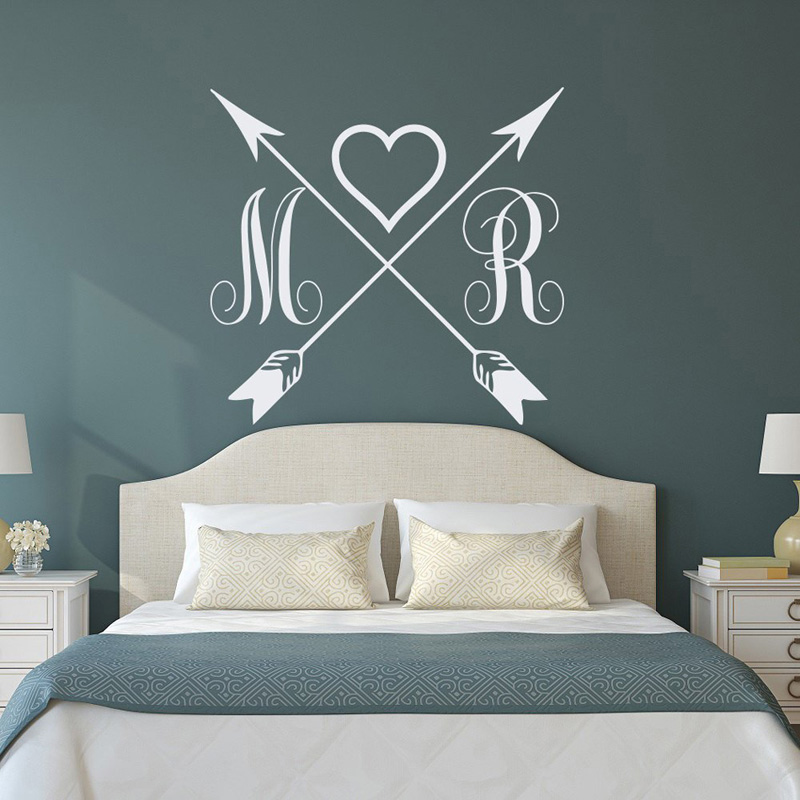 Personalized Name Monogram Decal Cross Arrow Vinyl Wall ...