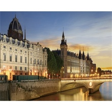 Laeacco Canvas Calligraphy Painting Houses of Parliament and Westminster Bridge Posters Prints Art Pictures for Living Room