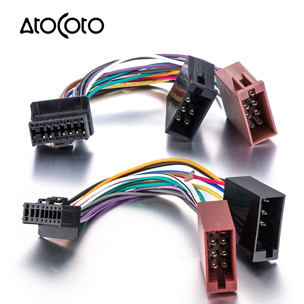 24 Pin Plug Car Stereo Radio Rca Output Wire Harness Wiring Panasonic Along With Toyota 20 Connector Iso Standard Adaptor Cable For Pioneer 2003 16