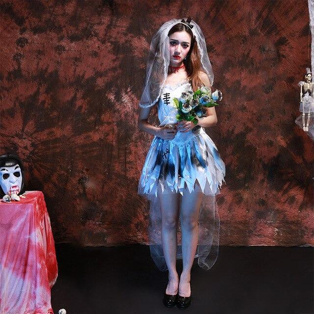 halloween party role playing fantasma vestido de novia párrafo diosa