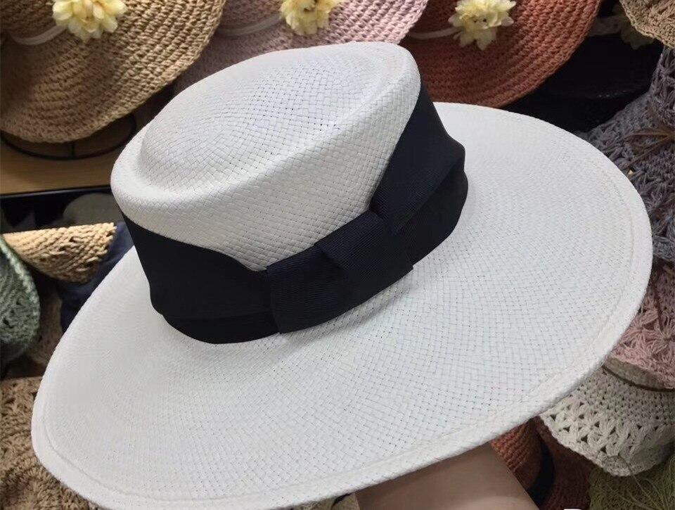 01901-axi 2019 Nuovo Desige Estate Fatti A Mano Erba Vacanza Fedora Cap Delle Donne Per Il Tempo Libero Spiaggia Panama Cappello