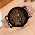2016 New Simulation Wooden Quartz Men Watches Casual Wooden Color Leather Strap Watch Wood Male Wristwatch Relojes Relogio