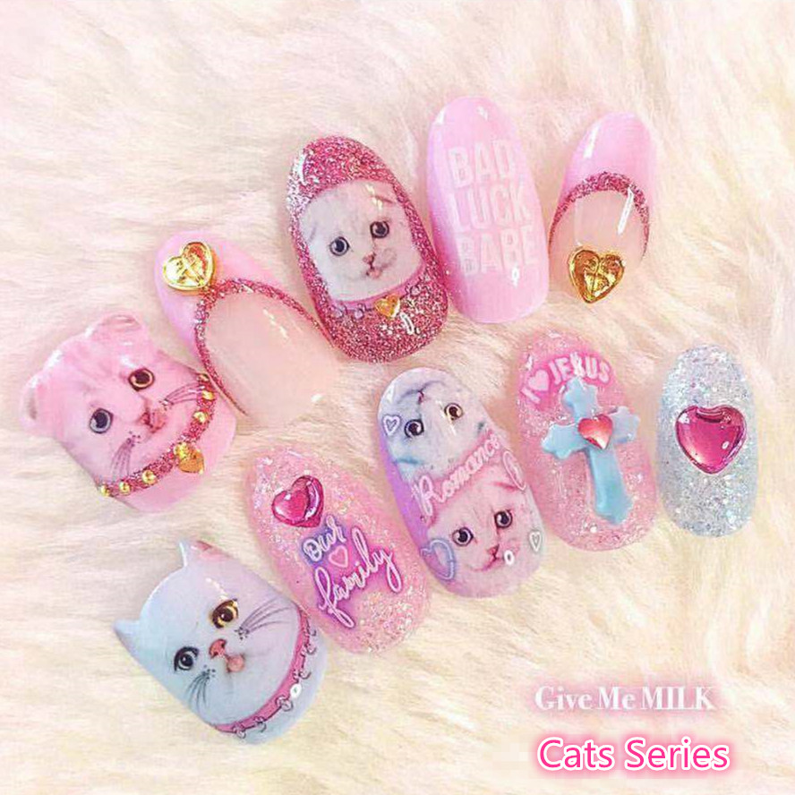 Newest 3d nail art sticker dream fold CATS SOLO nail-111 Decals Tool DIY Nail Decoration Tools for nail