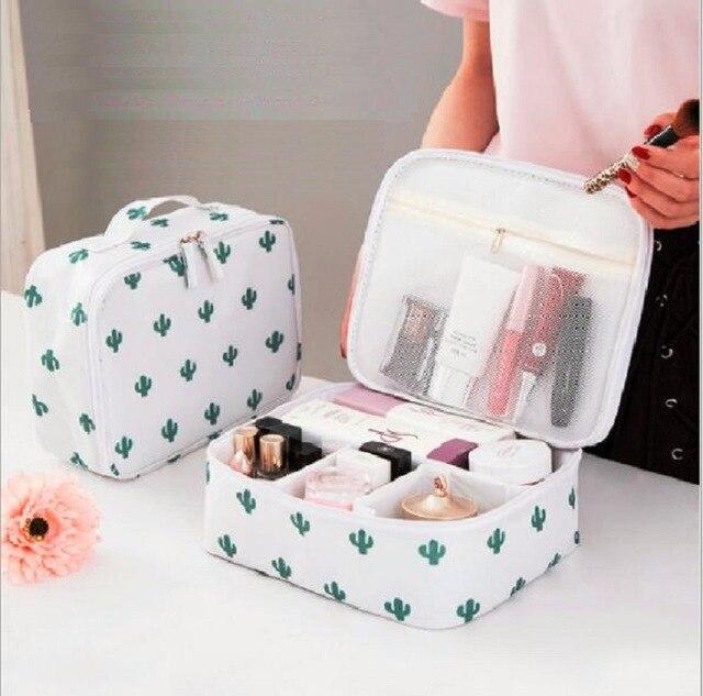 6b8c7c5e2da7 Yesello Vanity Necessaire Trip Women Travel Toiletry Wash Bra Underwear MakeUp  Makeup Case Cosmetic Bag Organizer