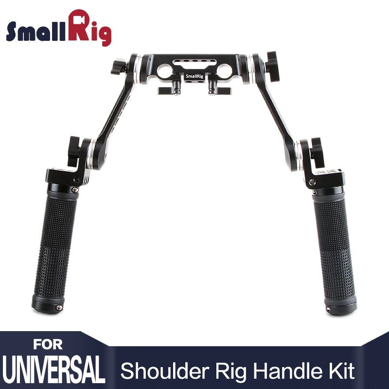 SmallRig Arri Rosette Handle Kit with 15mm Rod Clamp Cheese Short Arm for Shoulder Rig Mount DSLR Stabilizing System - 2002 smallrig camera grip qr cheese handle with 15mm rod clamp and an arri rosette screw hole multiple functions handle 1688