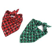 Snowflake Winter Christmas Dog Bandana Reversible Triangular Bibs Bandage for Dogs Cats Pets Animals