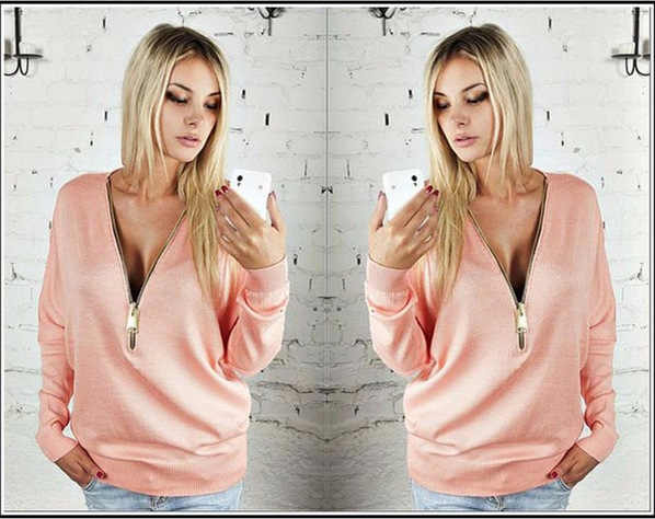 Koszulka damska Plus rozmiar wiosna jesień damska koszulka Sexy głęboki dekolt w serek czarny długi rękaw koszulka damska odzież 3xl 4xl 5xl