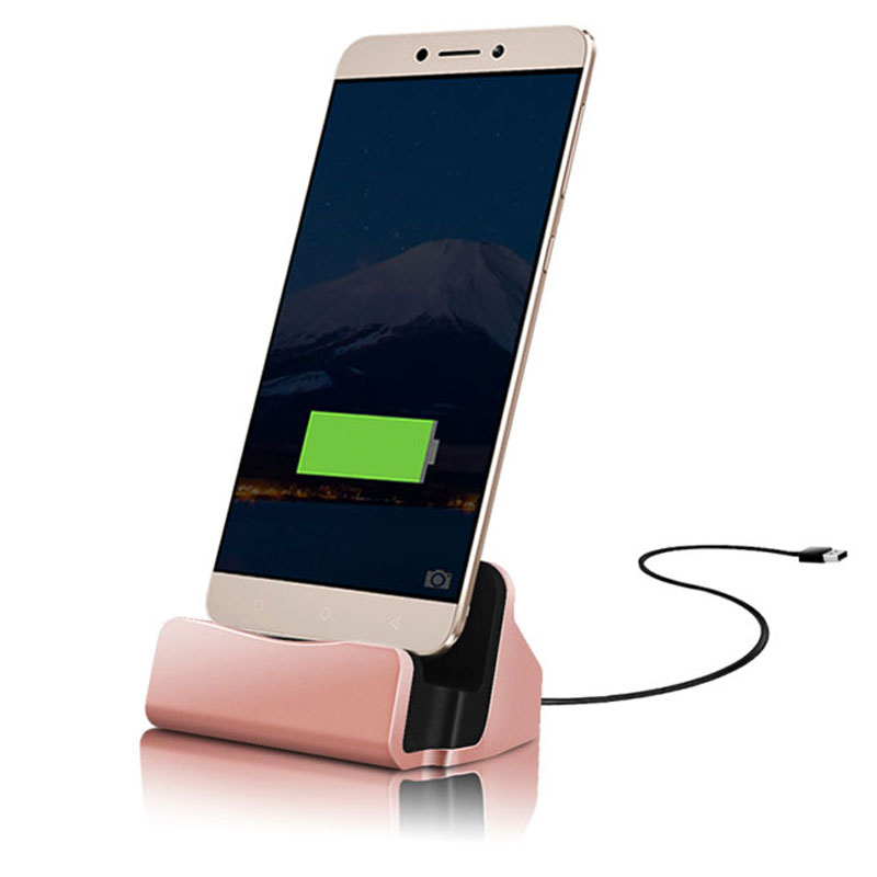 JIATEXIN Desktop Data Sync Type-C USB Cable Dock Charger Station For ZTE Axon Max / Nubia N1 / N2 / Zmax Pro Type-C USB Charging
