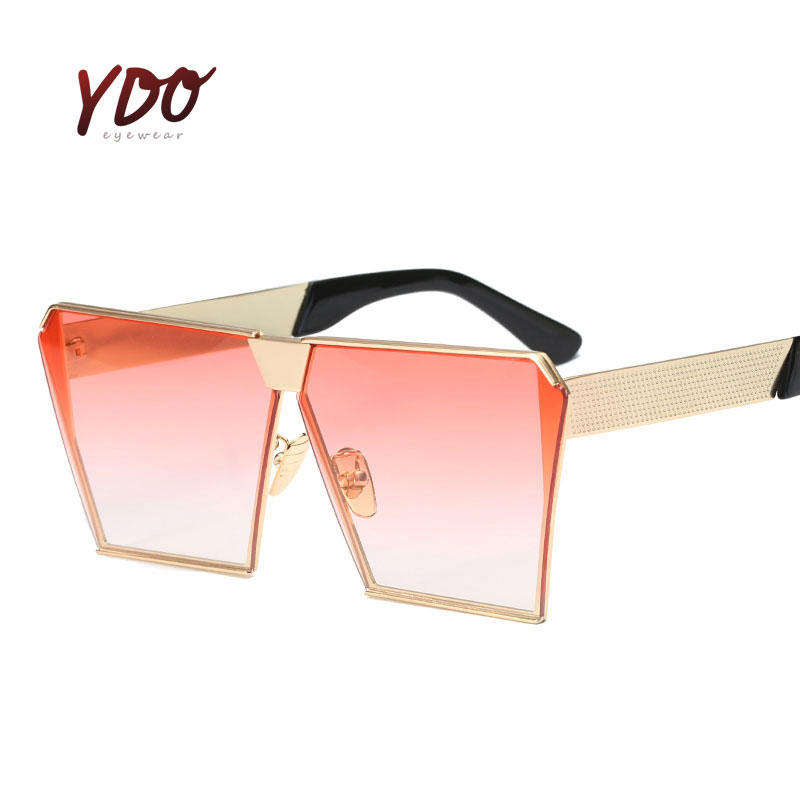 2017 font b New b font Luxury Oversized Sunglasses Women UV400 Mirror Lens Fashion Spectacles Retro