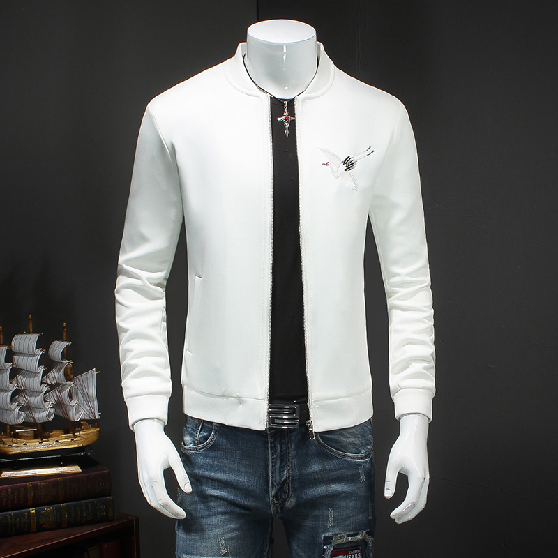 Buy Quality Men Casual Bomber Jacket Korean 2017 Spring Slim Fit Embroidery Mens Coats Fashion China Style Long Sleeve Windbreaker