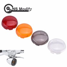 цена на NS Modify Turn Signal Light Cover Indicator Lens Cover For Harley Dyna Softail Sportster 883 XL Fatboy Electra Glide Road King
