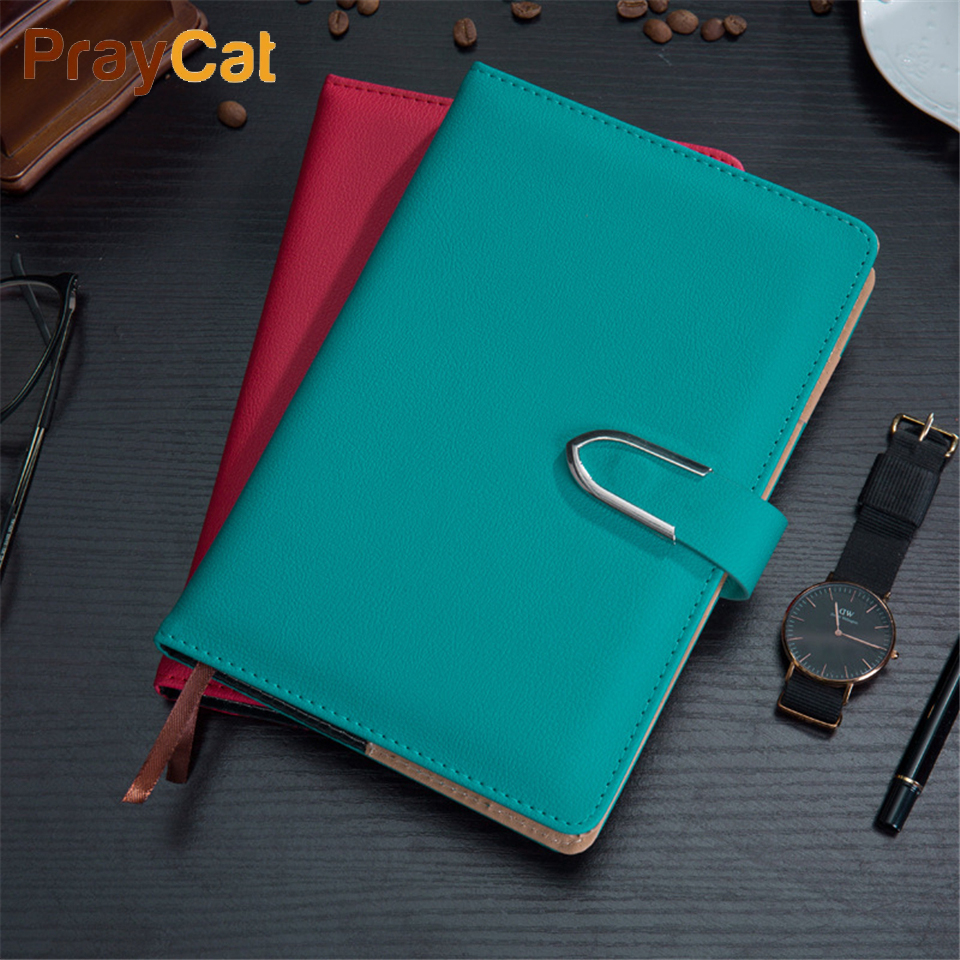 A5 Business Leather Notebook Luxury  Diary Journal Cover Soft Writing 120 sheets Planner Notebooks Grift Box Set Custom Logo
